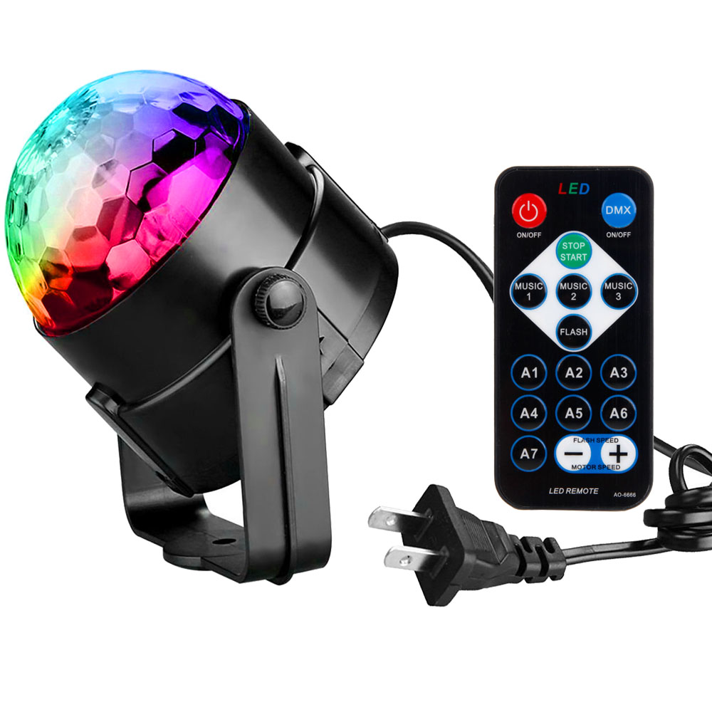Zimtown Party Disco Ball Projector Light 3w Led Strobe Lamp with Remote Control 7 Color Sound Activated Stage Lighting Effect Show Wedding light bulb - Color Change Night Light