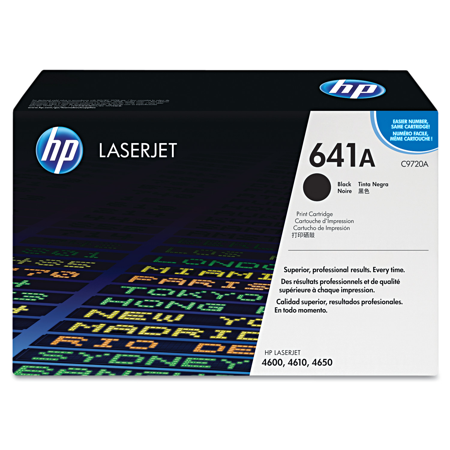 Set 4 Genuine HP 4600  641A Toner Cartridges  B//C//M//Y  New Sealed Boxes