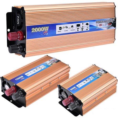 Portable Car LED Power Inverter WATT DC 12V/24V to AC 110V Charger Converter Lot
