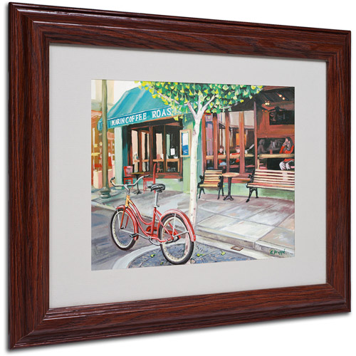 "Trademark Fine Art ""Coffee Shop"" Canvas Art by Colleen Proppe, Wood Frame"