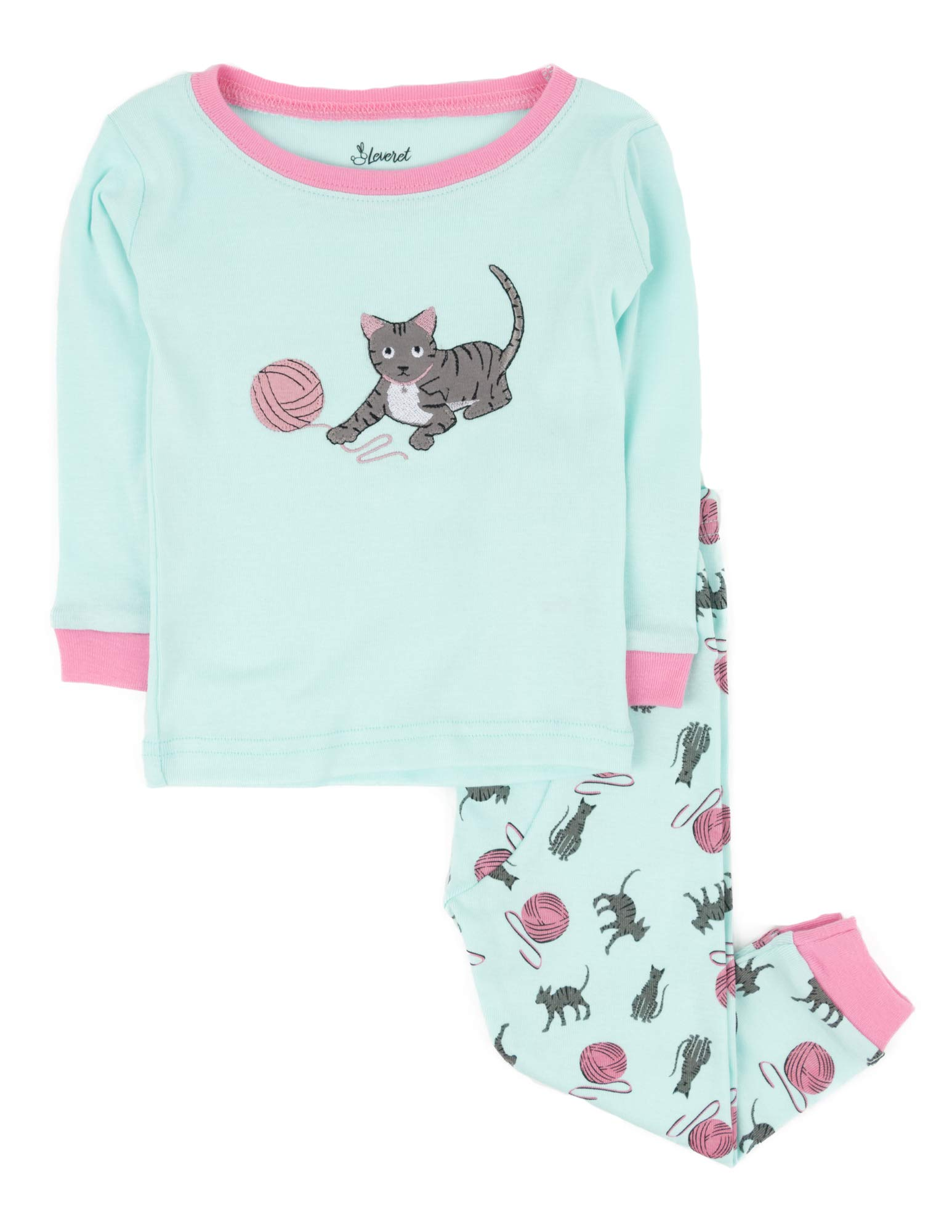 Size 2 Toddler -10Y Leveret Girls Shorts Rainbow 2 Piece Pajama 100/% Cotton