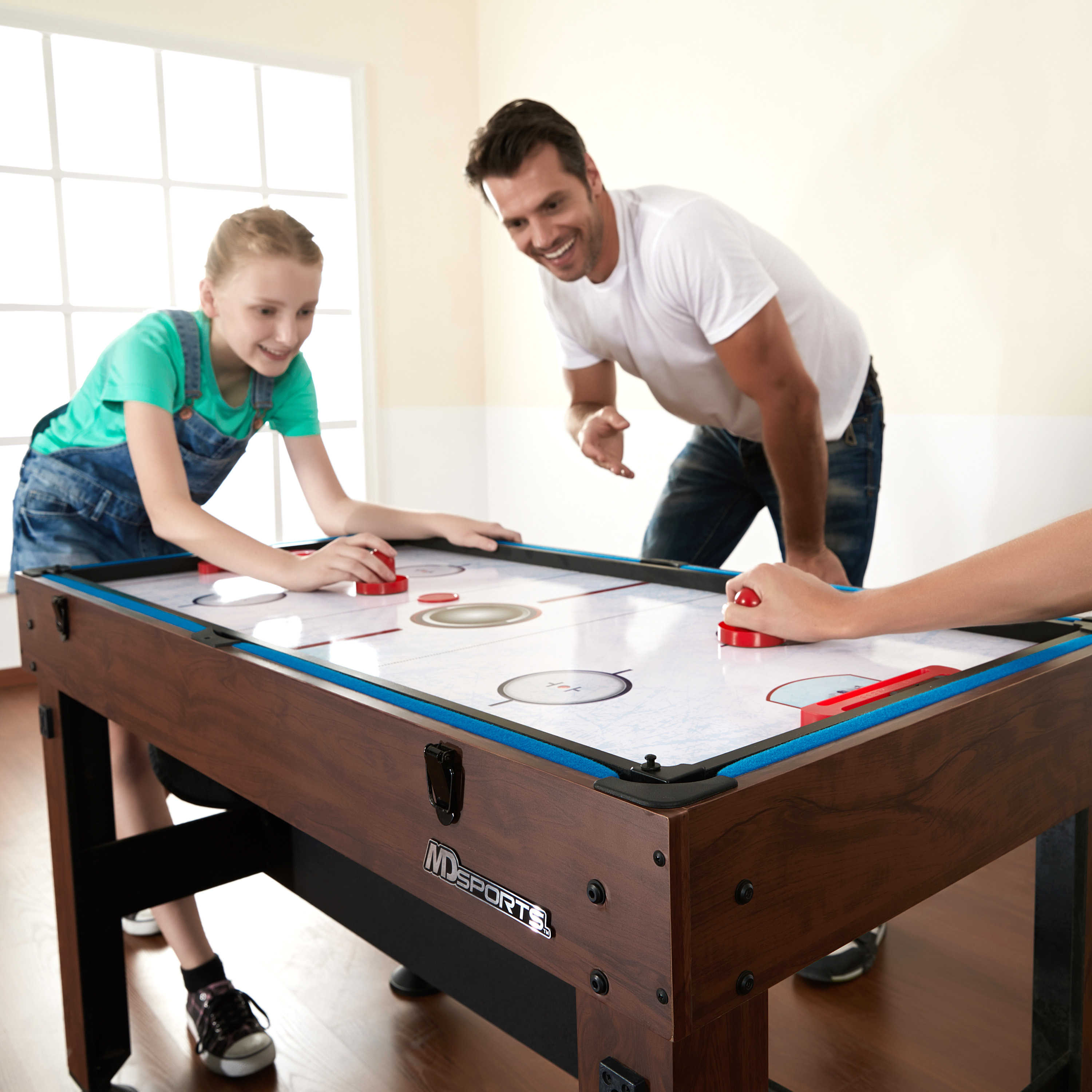 ... Hockey MD Sports 54 Inch 4 In 1 Combo Game Table, Foosball, ...