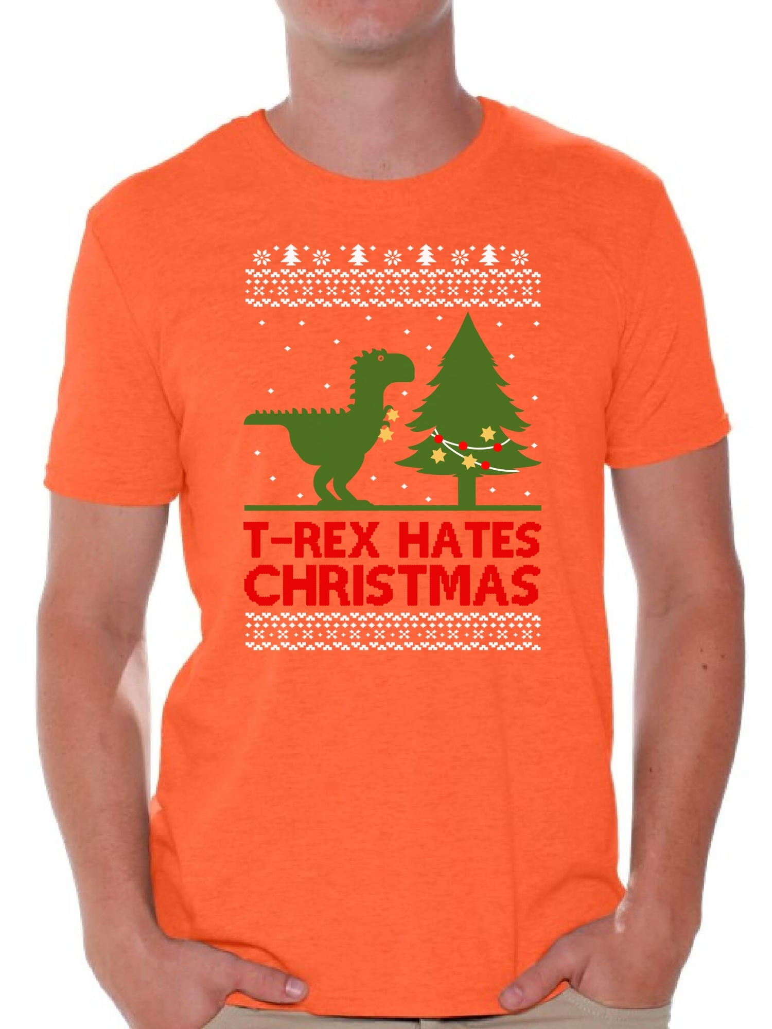 7b1304278 Awkward Styles T-Rex Hates Christmas Shirt Christmas Tshirts for Men T Rex  Christmas Dinosaur Shirt Dinosaur T-Rex Ugly Christmas t-shirt Funny Tacky  Party ...
