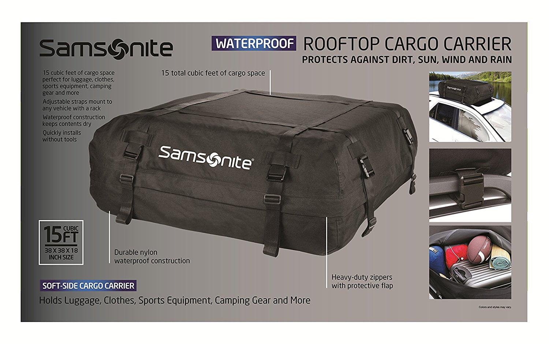 Samsonite Rooftop Cargo Carrier 100 Waterproof New Open Box