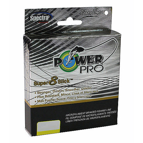PowerPro Super 8 Slick Braid 15 lb, 300 yds