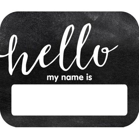 Halloween Themed Name Tags (Industrial Chic Hello Name)