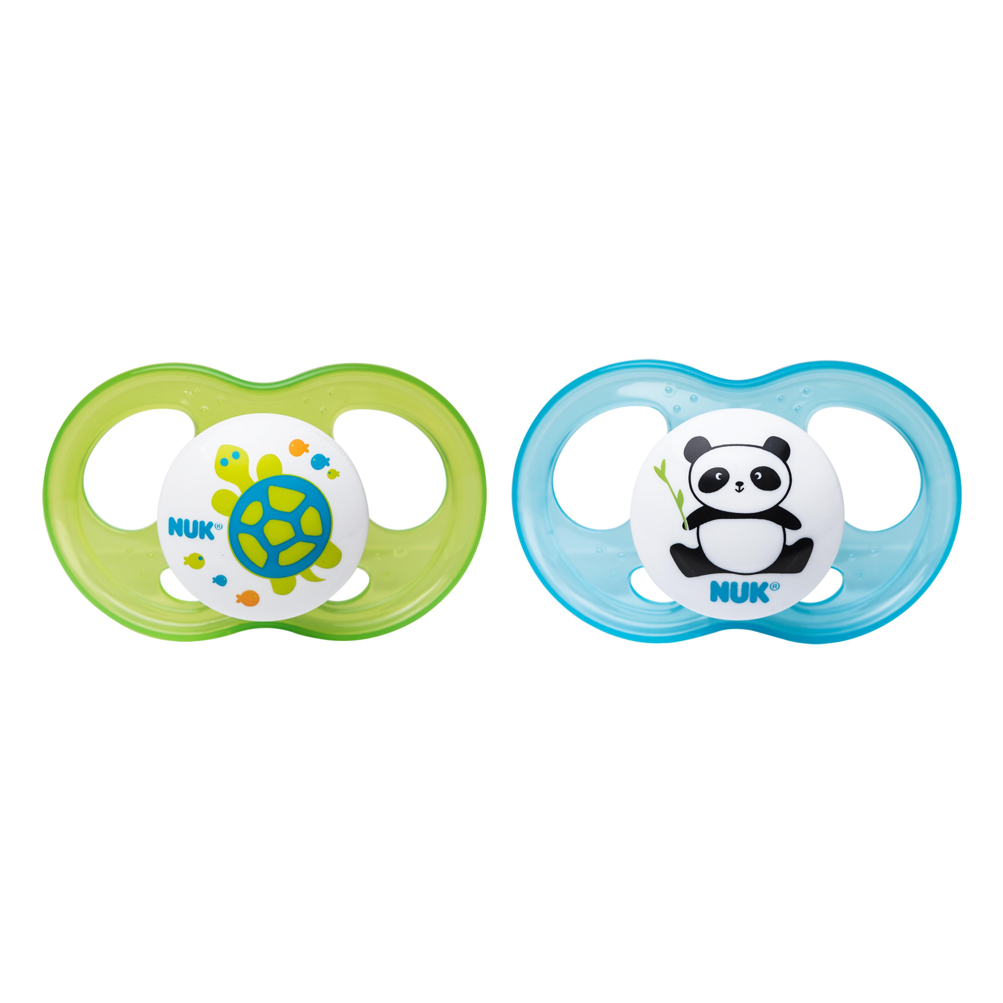 NUK Breeze 2 Piece Orthodontic Pacifier Girl Colors 6-18 Months