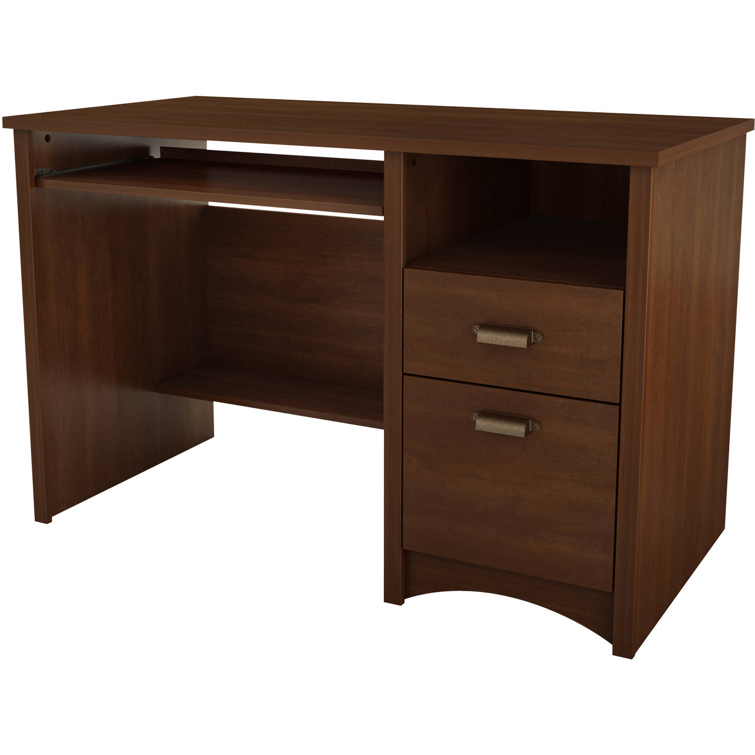 South Shore Gascony Computer Desk with Keyboard Tray, Multiple Finishes