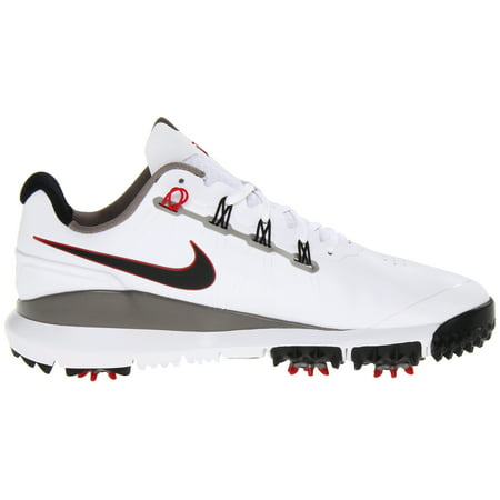 Nike Tw 14 Tiger Woods Golf Shoes   White Pewter Red Grey