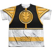 Power Rangers - White Ranger(Front/Back Print) - Youth Short Sleeve Shirt - Small