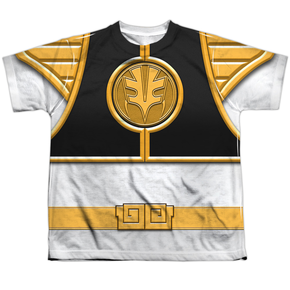Mighty Morphin Power Rangers Ranger(Front Back Print) Big Boys Shirt
