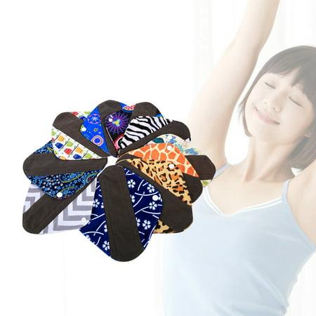 10 Patterns Heavy Reusable Washable Panty Liner Bamboo Cloth Mama Menstrual Sanitary Pad Hot , Menstrual Pads, Cloth Sanitary Pad