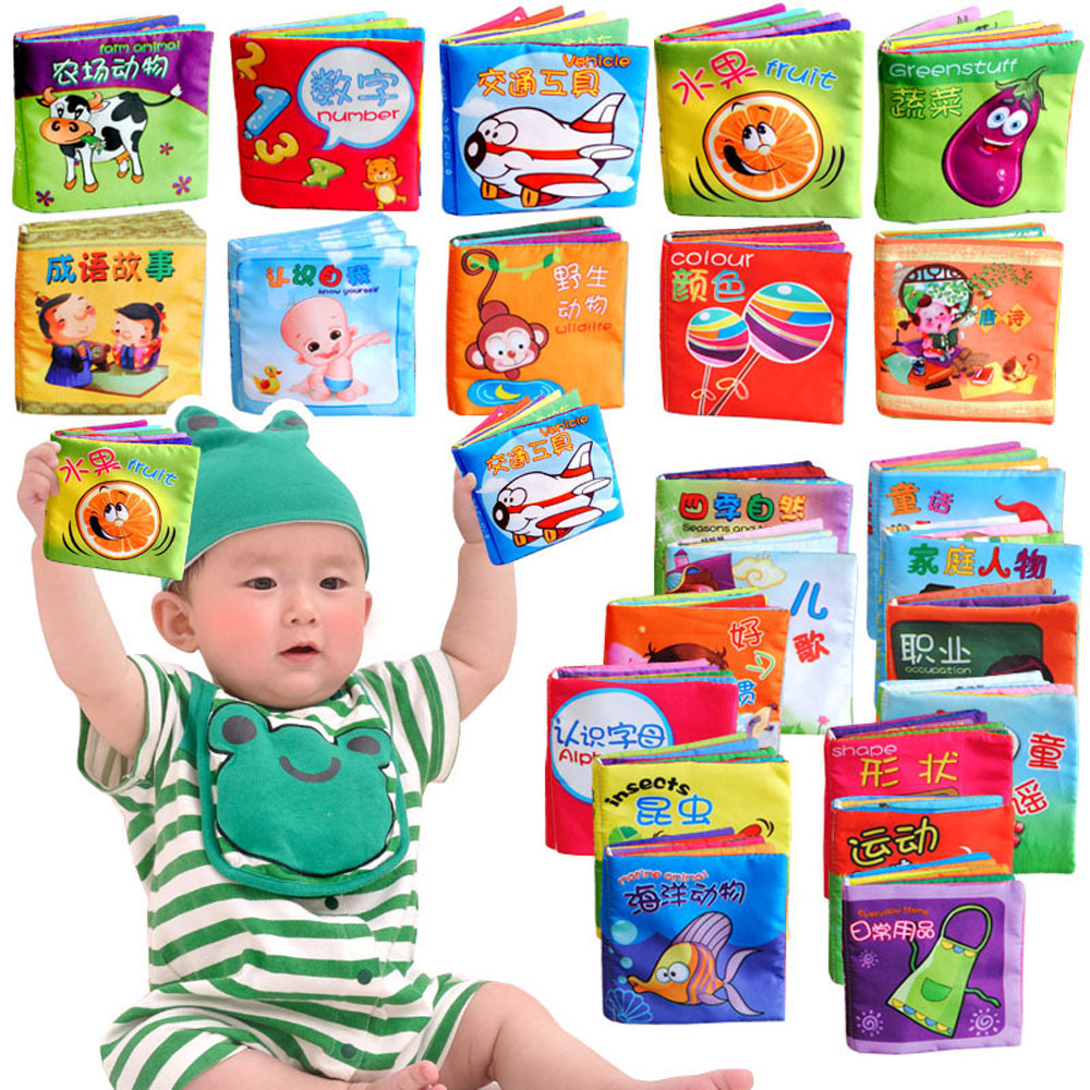 Mosunx Intelligence Development Cloth Fabric Cognize Book Educational Toy For Kid Baby