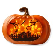 Lighted Pumpkin Wall Piece