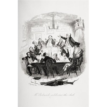 Design Pics DPI1860248 12 x 18 in. Mr.Pickwick Addresses The Club Illustration From The Charles Dickens Novel