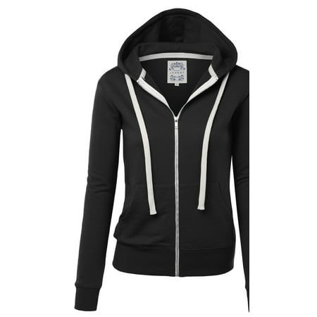 Orange Travel Jacket - MBJ Womens Active Fleece Zip Up Hoodie Sweater Jacket