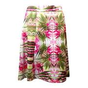 INC International Concepts Women's Palm Tree Print Ponte Skirt (3X, Pink Multi)