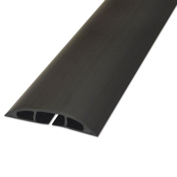 Light Duty Floor Cable Cover 72 X 2 5 X 0 5 Black Walmart