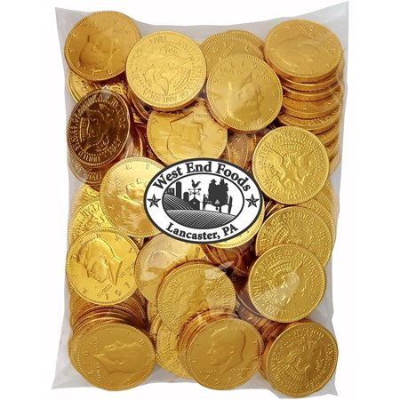 Bulk Milk Chocolate Gold Coins Candy (1 lb) for Kids (Chocolate In Gold Wrapping)