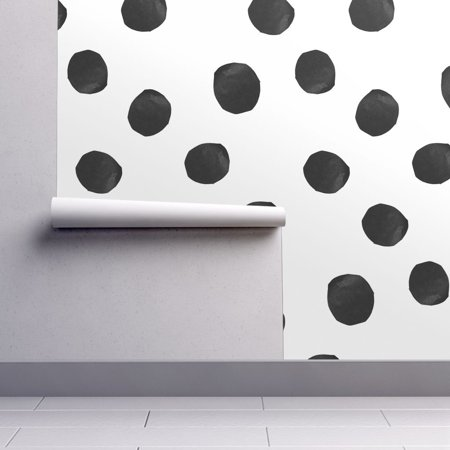 White Wallpaper Cut Out (Wallpaper Roll Large Dot Polka Dot Black White Cut Paper Large 24in x 27ft)