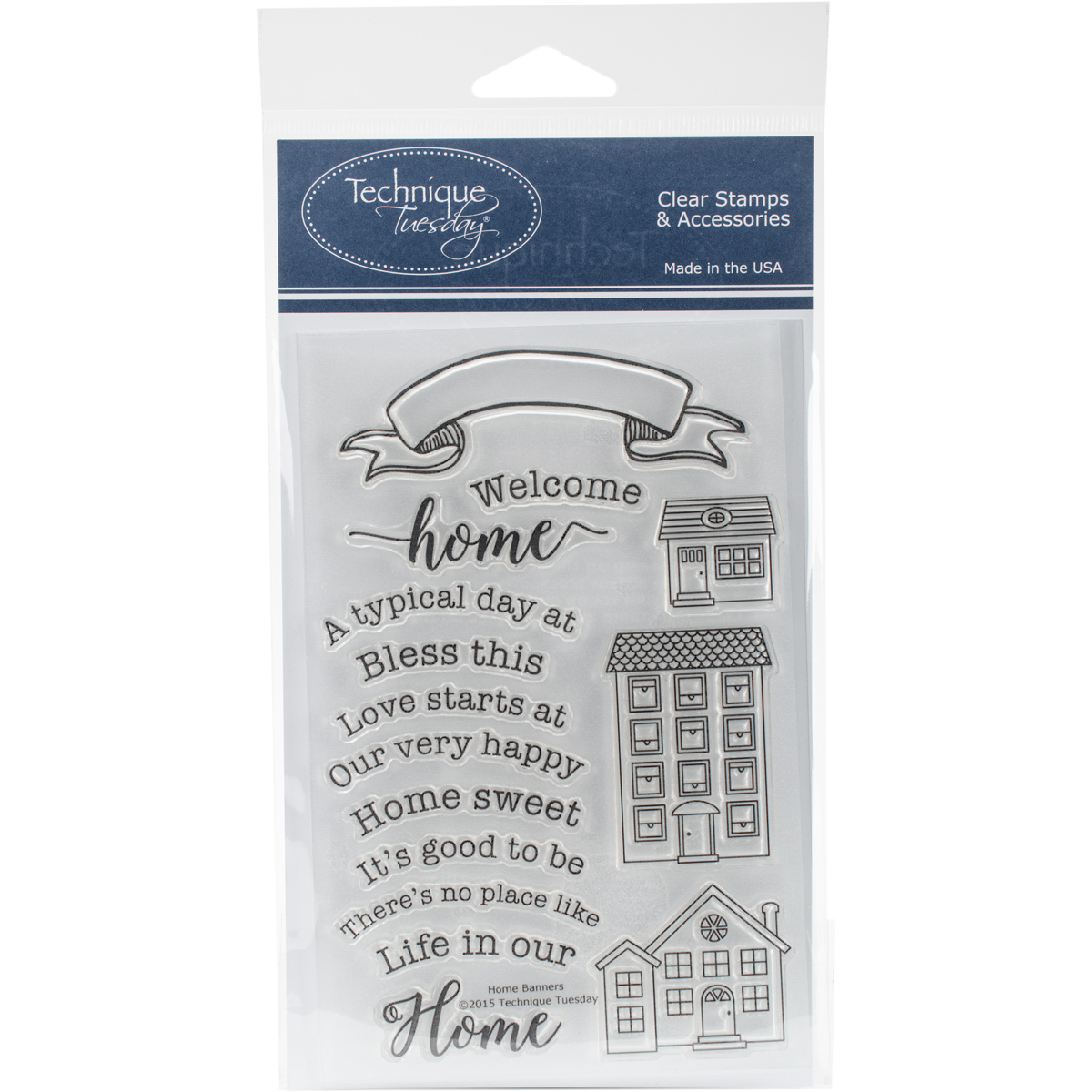 "Technique Tuesday Clear Stamps 4""X6""-Home Banners"