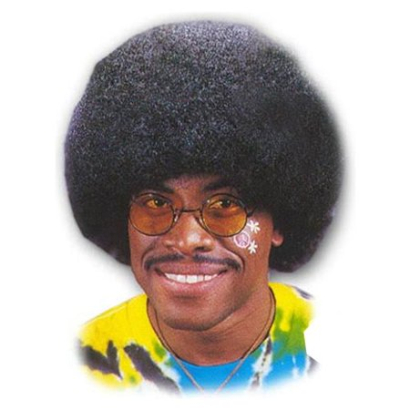 High Black Afro Wig Adult Halloween Accessory for $<!---->