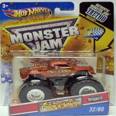 2011 Hot Wheels Monster Jam Originals #32/80 PILLAGE IDIOT 1:64 Scale Collectible Truck with Monster Jam TATTOO