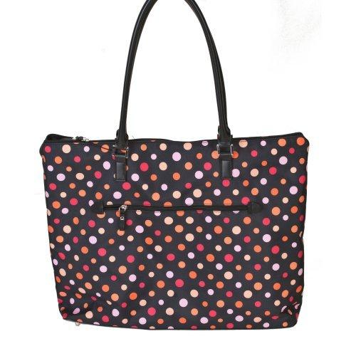 Rockland 23 in. Tote Bag - Polka Dots