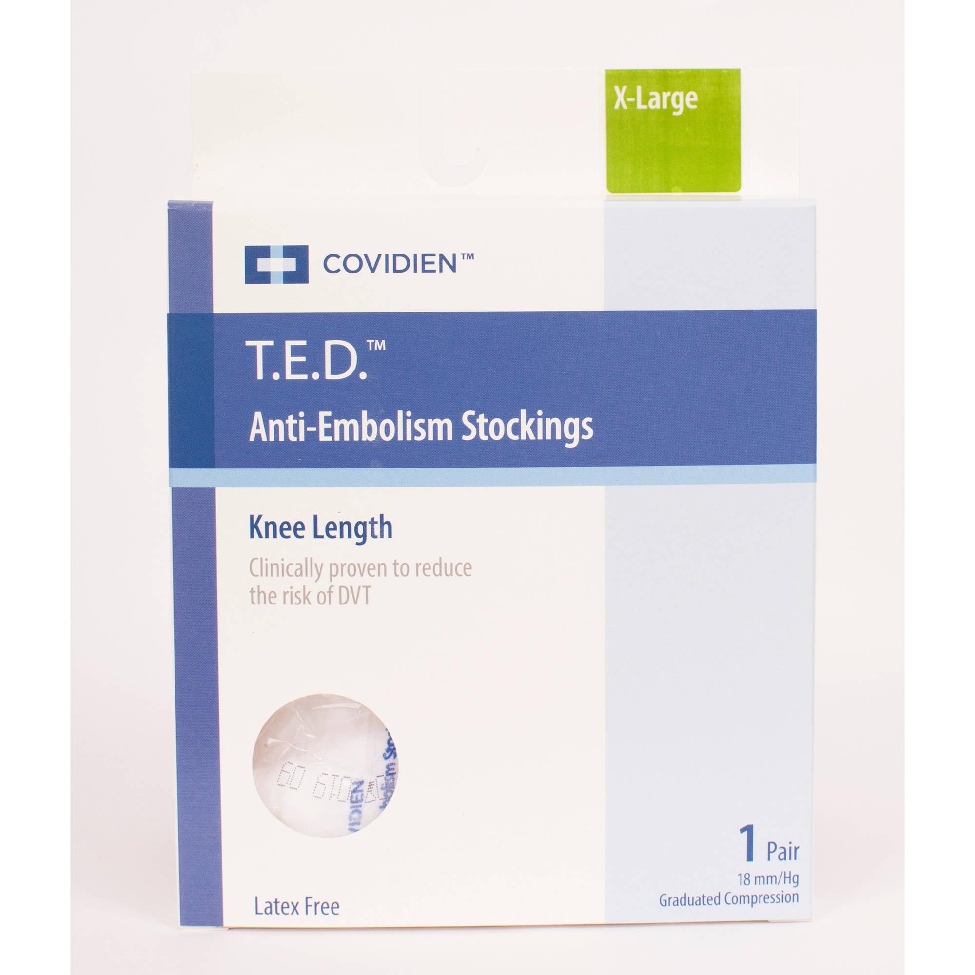 T.E.D. Anti-Embolisim Stocking Knee high extra large/Regular white