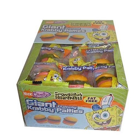 Gummy Krabby Patty (Sponge Bob Giant Krabby Patties, (Pack of)