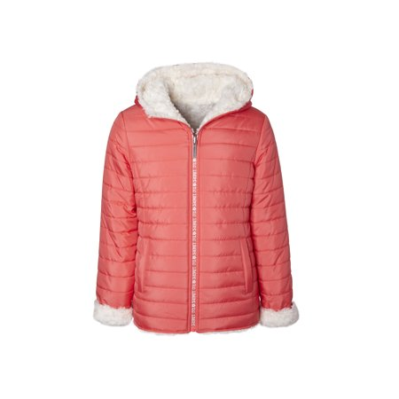 Limited Too Quilted Reversible Fur Lined Jacket (Big