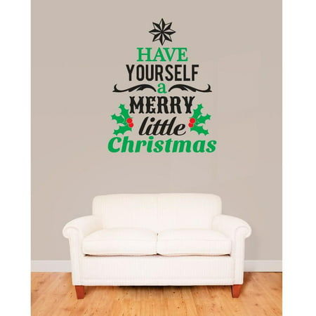 Do it yourself wall decal sticker have yourself a merry little do it yourself wall decal sticker have yourself a merry little christmas image quote bedroom bathroom solutioingenieria Images