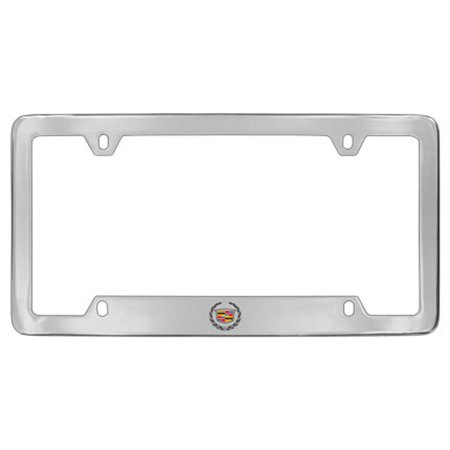 Cadillac Logo Chrome Plated Metal Bottom Engraved License Plate ...