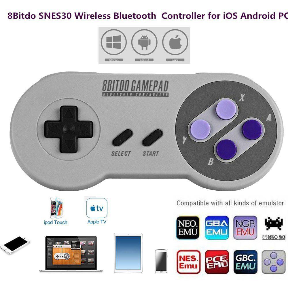 8bitdo SNES30 Gamepad Wireless Bluetooth Controller Dual ...