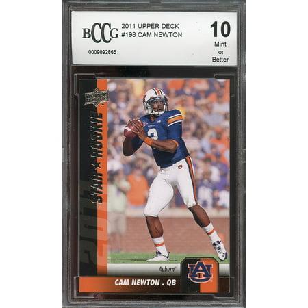 2011 Upper Deck 198 Cam Newton Carolina Panthers Rookie Card Bgs Bccg 10