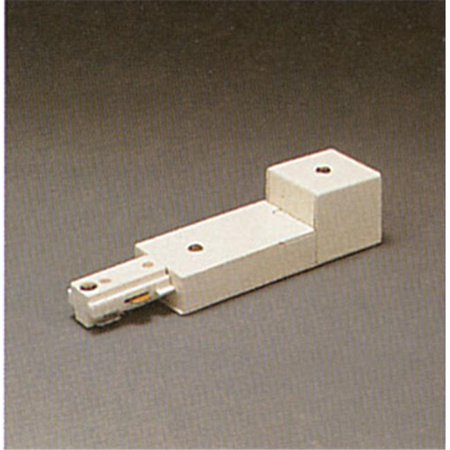 Track Accessories 120V Track 2 Circuit Conduit Feed Ceiling Light, White