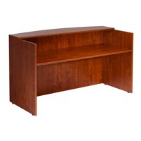 Boss Office Products Cherry 71 inch Reception Desk