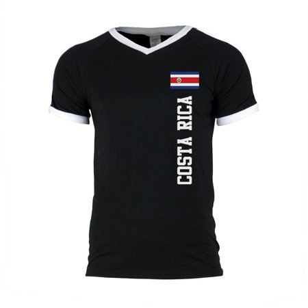 World Cup Costa Rica Mens Soccer Jersey V-Neck (Costa Rica Fitted T-shirt)