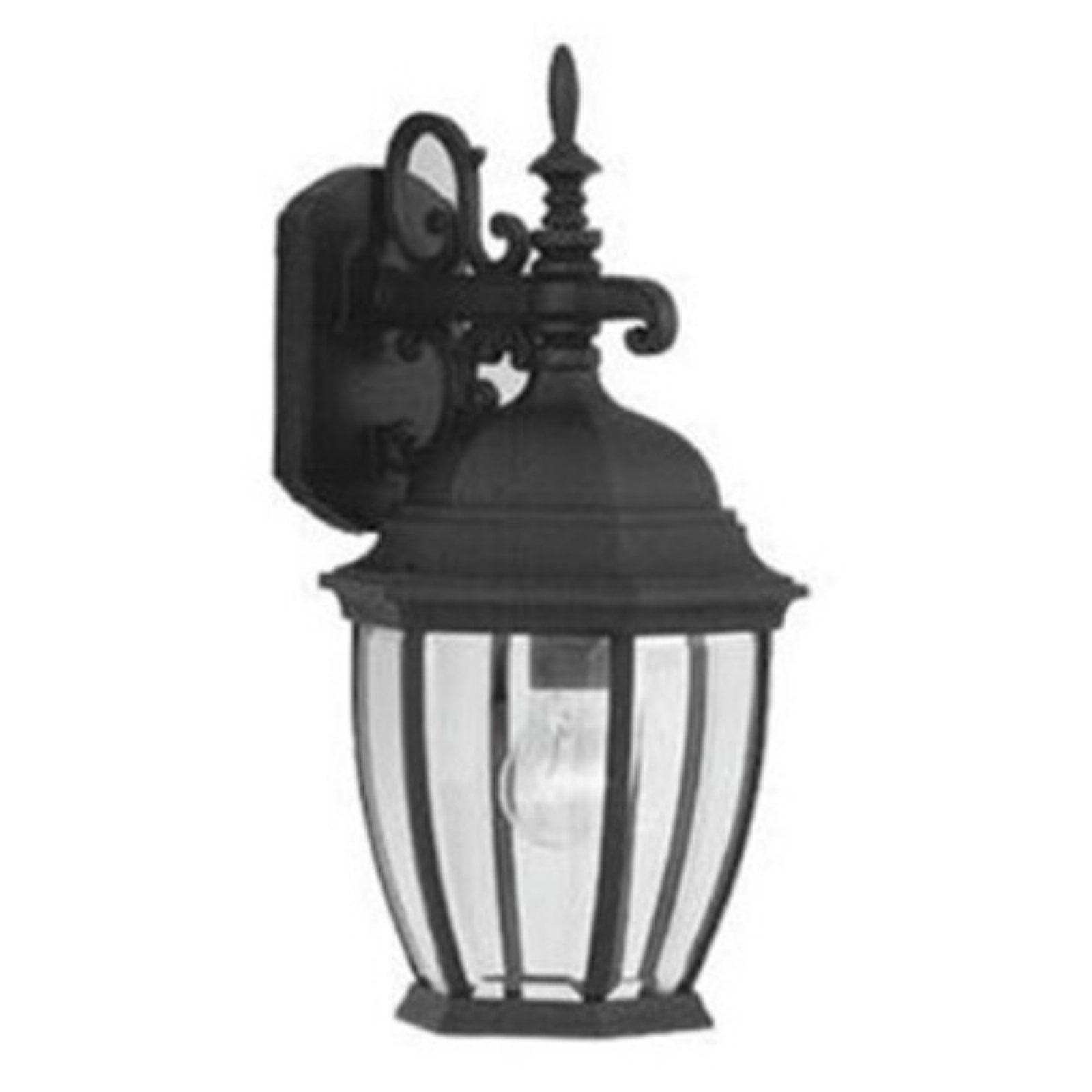 Designers Fountain Outdoor 2431-BK Tiverton Cast Wall Lantern