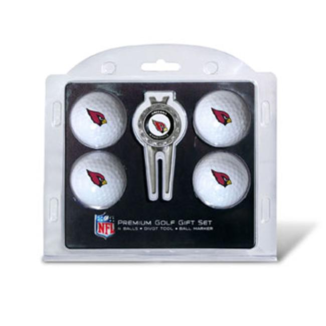 Team Golf 30006 Arizona Cardinals Pack of 4 Golf Balls and Divet Tool Gift Set