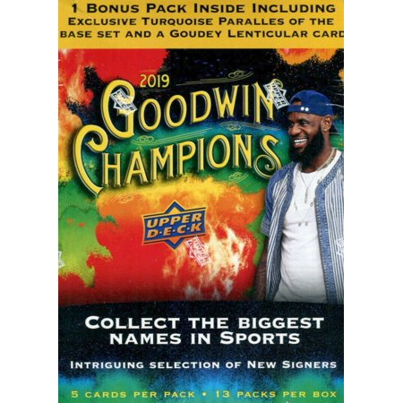 2019 Upper Deck Goodwin Champions Mega Box- Biggest names in Sports| Featuring Lebron James, Tiger Woods and Michael Jordan Assorted