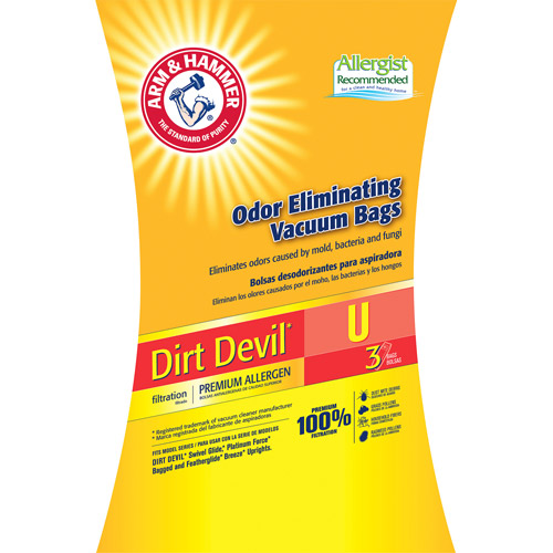 Arm & Hammer 9-Pack Odor Eliminating Vacuum Bags, Dirt Devil U �� Premium Allergen