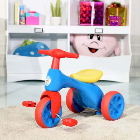 Costway 2 in 1 Toddler Tricycle Balance Bike Scooter Kids Riding Toys w/ Sound & Storage - image 9 of 10
