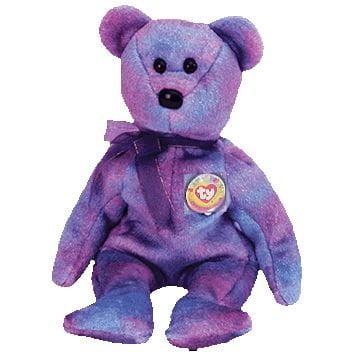 TY Beanie Baby - CLUBBY 4 the Bear (Rainbow Button) e0917d979239
