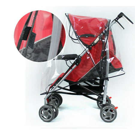 Universal Baby Stroller Rain Cover Wind Dust Shield Waterproof For Child Jogger Pushchairs US Double Jogger Rain Cover