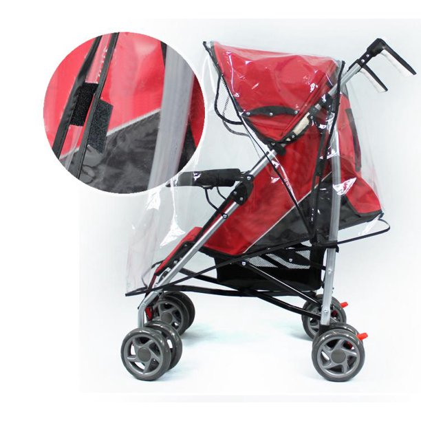 Universal waterproof baby stroller rain cover dust wind shield pram accessory, baby pushchair shield