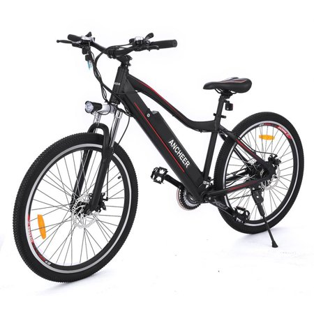 ancheer 26 electric mountain bike folding aluminum electric ebike bicycle with removable lithium. Black Bedroom Furniture Sets. Home Design Ideas
