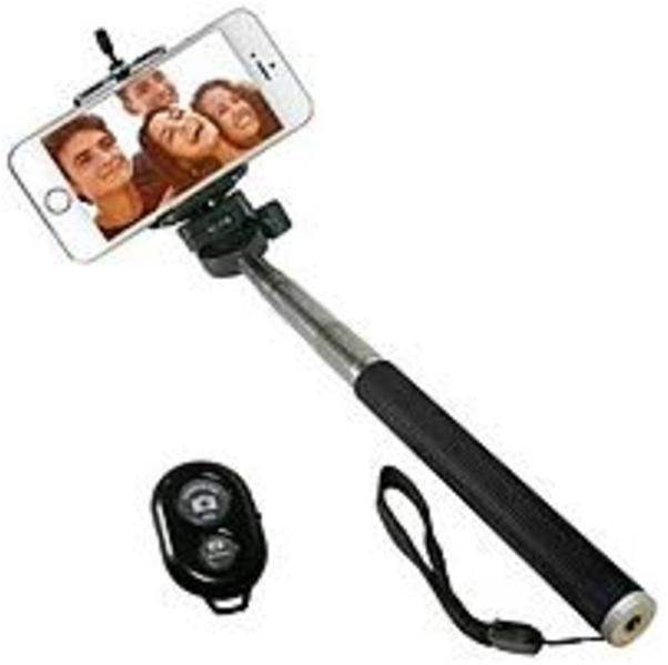 iCover IC-SELFIE-BK Selfie Stick with Bluetooth Remote for (Refurbished)