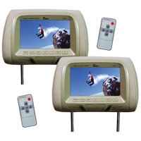"""Tview 7"""" TFT/LCD Car Headrest with Monitor PairTan"""