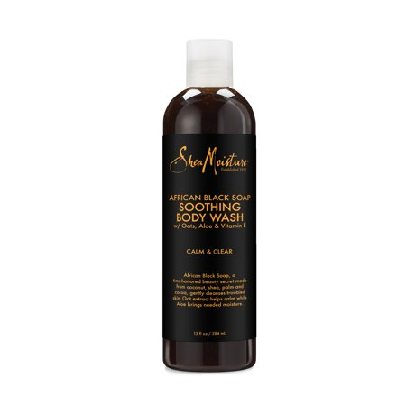Shea Moisture African Black Soap Body Wash, 13 oz (Best All Natural Body Wash)